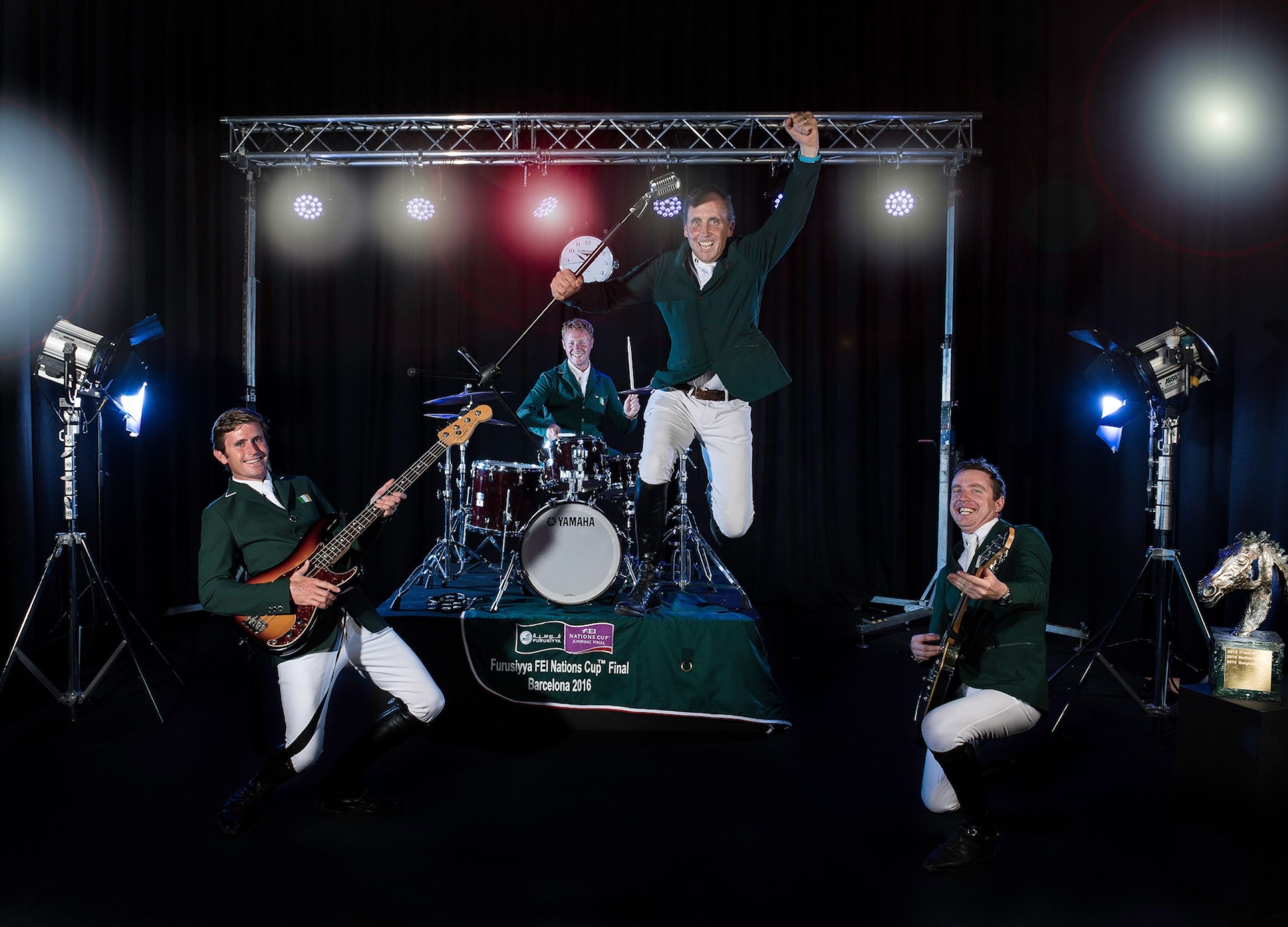 Smells Like Team Spirit!  Your equestrian heroes like you've never seen them before...